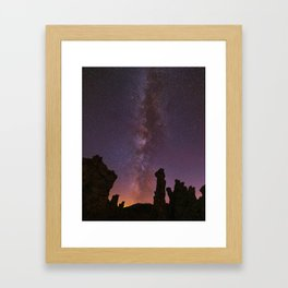 Mono Lake Milky Way Framed Art Print