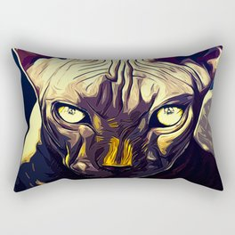 sphynx cat from hell vafn Rectangular Pillow