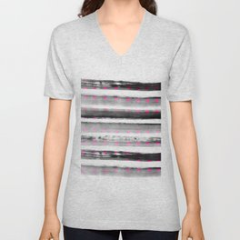 abstract watercolor dots Unisex V-Neck