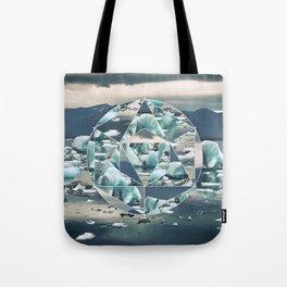 Geometric Icebergs Abstract Tote Bag