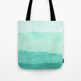 Ombre Waves in Teal Tote Bag
