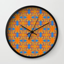 i - pattern 4 Wall Clock