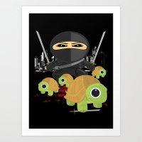 ninja turtles Art Prints featuring Ninja Turtles by Adamzworld