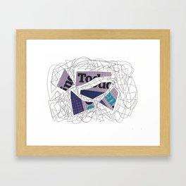 Collage doodle violet Framed Art Print