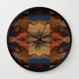 Under the Blanket of Sunset Native American Inspired Pattern Wall Clock