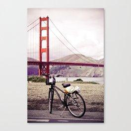 Bike by the Golden Gate Bridge Canvas Print