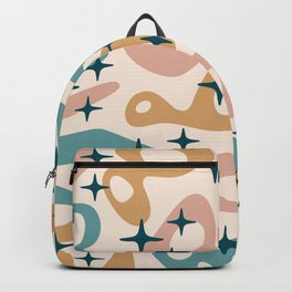 Retro Mid Century Modern Abstract Composition 942 Backpack