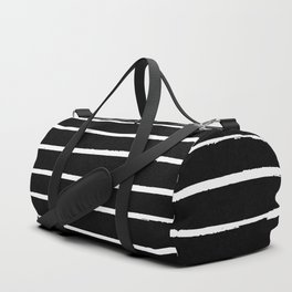 Abstract Stripes in Cream and Black II Duffle Bag