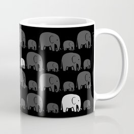 Elephant Black Coffee Mug