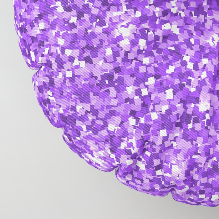 Hot purple white modern abstract pattern Floor Pillow
