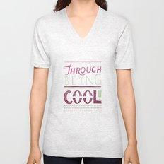 THROUGH BEING COOL v. 3 Unisex V-Neck