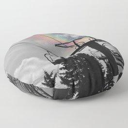 4 Seat Chair Lift Rainbow Sky B&W Floor Pillow