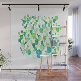 Watercolour Cacti Wall Mural