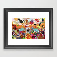 I feel Surrounded Framed Art Print