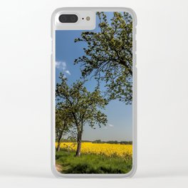 Spring landscape- a trail in the rapeseed Clear iPhone Case