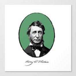 Authors - Henry David Thoreau Canvas Print