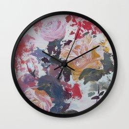 Abstract Roses Wall Clock