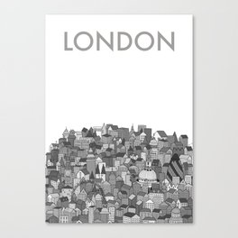 London (black and white version) Canvas Print