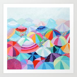 Seaside Summer Art Print