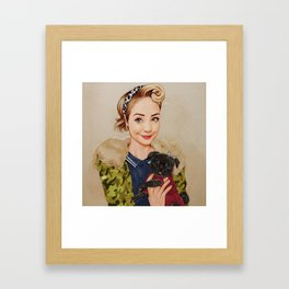 Zoella and Nala Framed Art Print