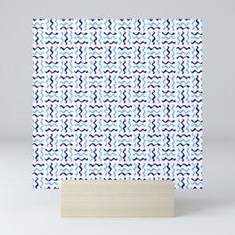 free scribble 30 blue Mini Art Print
