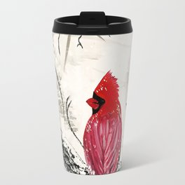 Red Robins Winter Travel Mug