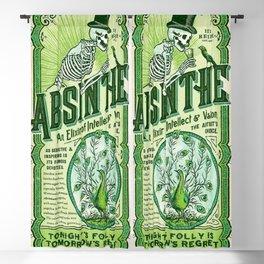 Vintage 1871 Absinthe Liquor Skeleton Elixir Aperitif Cocktail Alcohol Advertisement Poster Blackout Curtain