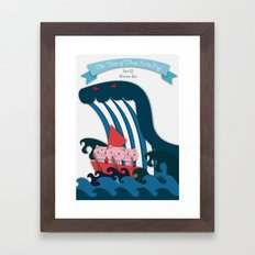 The Tales Of Three Little Pigs Part II: Monster Sea Framed Art Print