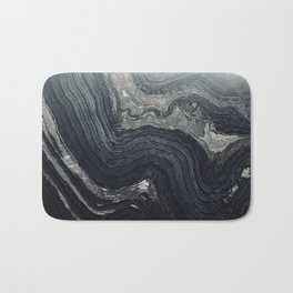 Dark Gray Marble Pattern Bath Mat