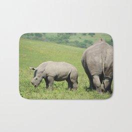 Rhino & Baby in South Africa Bath Mat