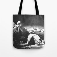 joy division Tote Bags featuring Joy Division - Closer by NICEALB