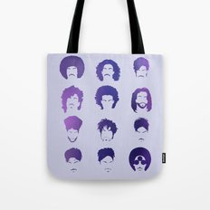 Purple royalty / hairstyle phases through the years Tote Bag