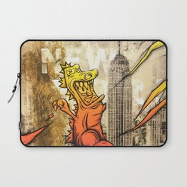 Godzilla Pink & Orange Royal Stain Laptop Sleeve