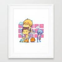 kuroko Framed Art Prints featuring kuroko no basket by keiden