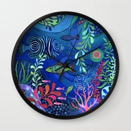 Botanical Sea Garden Wall Clock