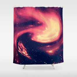 Space Explorer No8 Shower Curtain