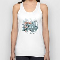 cyberpunk Tank Tops featuring Cyberpunk Beat Down by Dooomcat