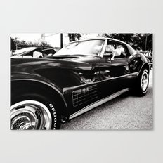 Black Chevrolet Corvette Stingray Car Canvas Print