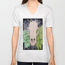 Skull and Succulents Unisex V-Neck