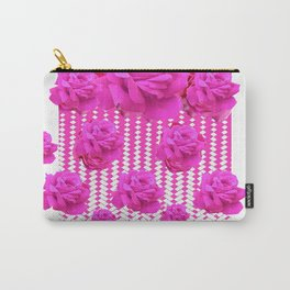 ABSTRACTED  PINK ROSES GARDEN ART Carry-All Pouch