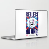 politics Laptop & iPad Skins featuring Polar Bear Politics by Clore Concepts Chucks Stuff