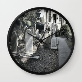 'Til death do us part - B&W Wall Clock