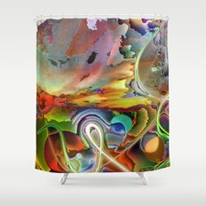 Tripping Shower Curtain
