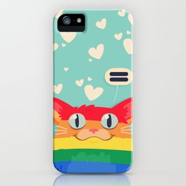 LGBT Cat iPhone Case