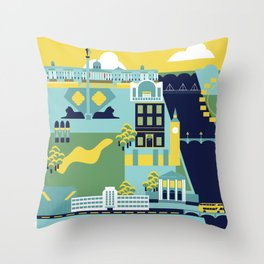 Charing Cross to Pimlico Throw Pillow