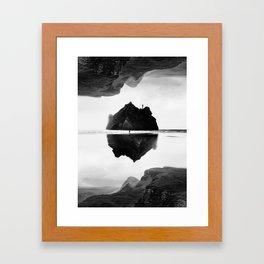 Black and White Isolation Island Framed Art Print