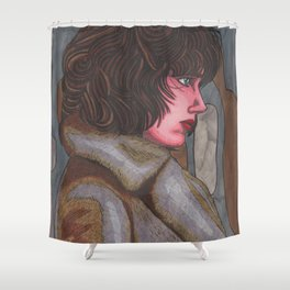 Alien Girl Shower Curtain