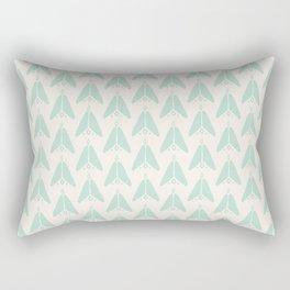 Bohemian Arrows - Light blue and cream pattern Rectangular Pillow