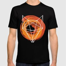 Geometric Fox MEDIUM Black Mens Fitted Tee