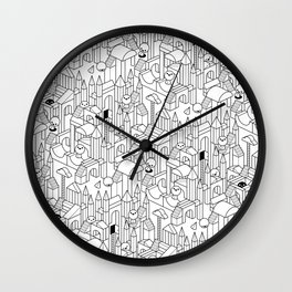 Little Escher's Building Blocks Wall Clock